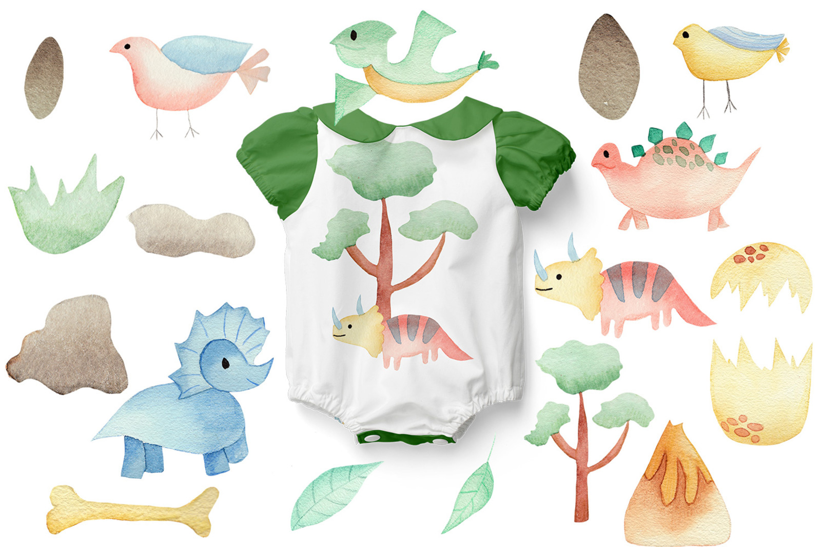 Dino Land - Watercolor Nursery Collection