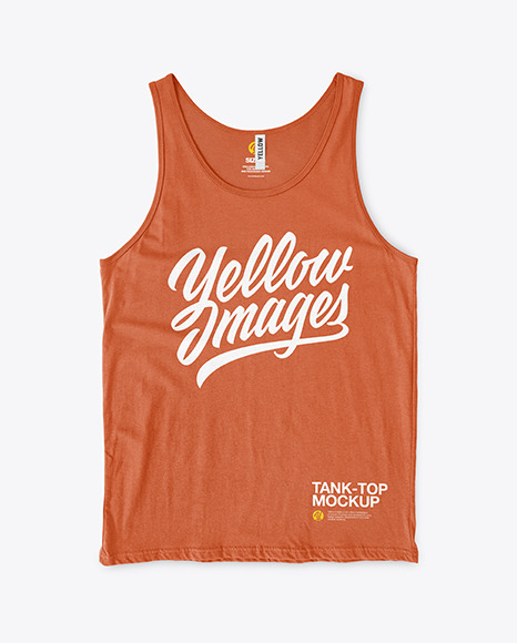 Tank Top with Round Neck Mockup