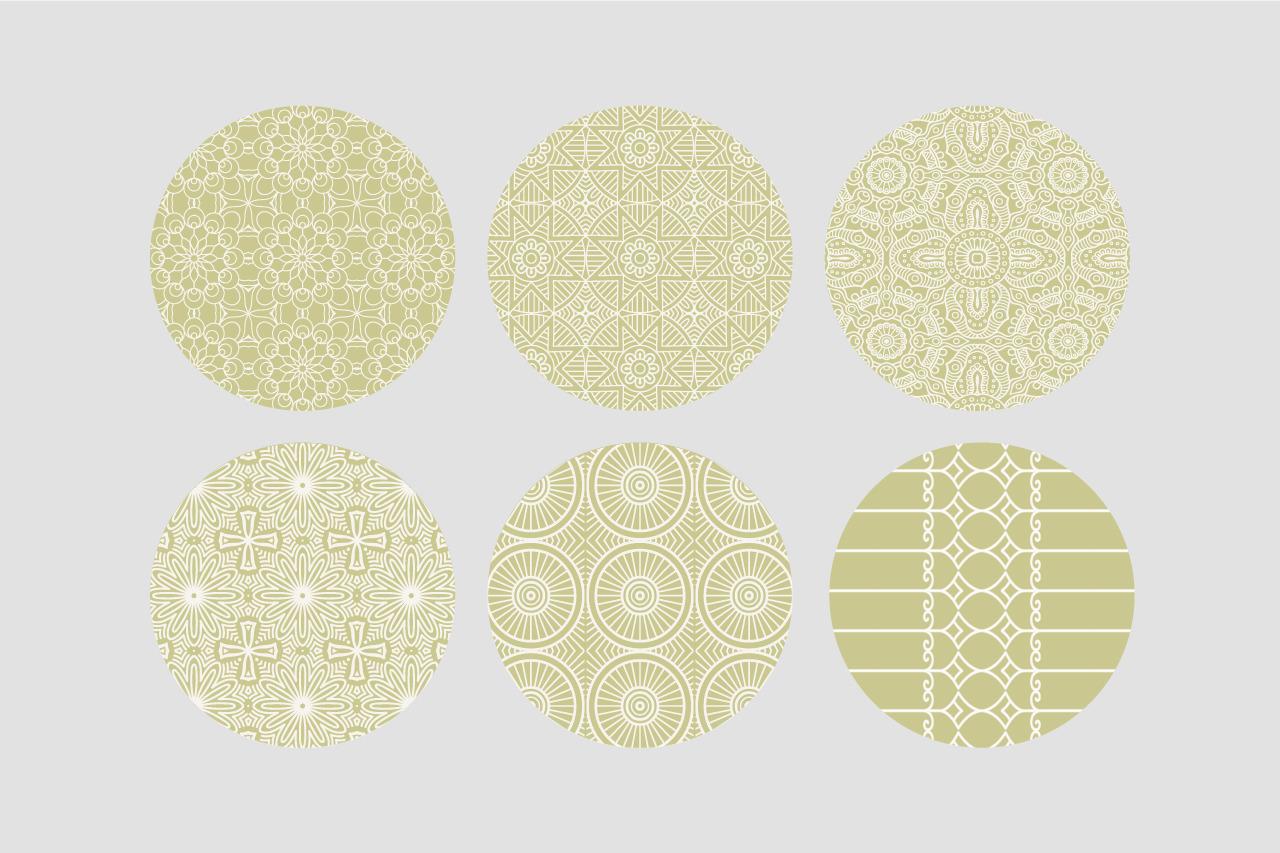 Oriental ornament seamless patterns