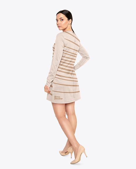 Woman in a Dress Mockup
