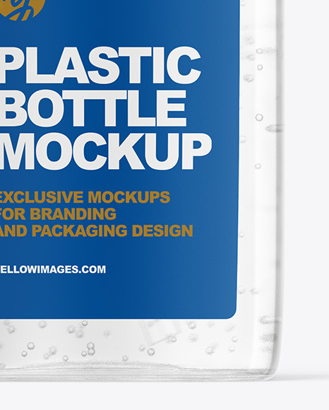 Clear Plastic Bottle With Pump Mockup In Bottle Mockups On Yellow