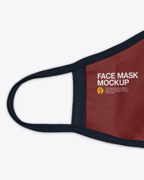Download Face Mask Mockup Black Yellowimages