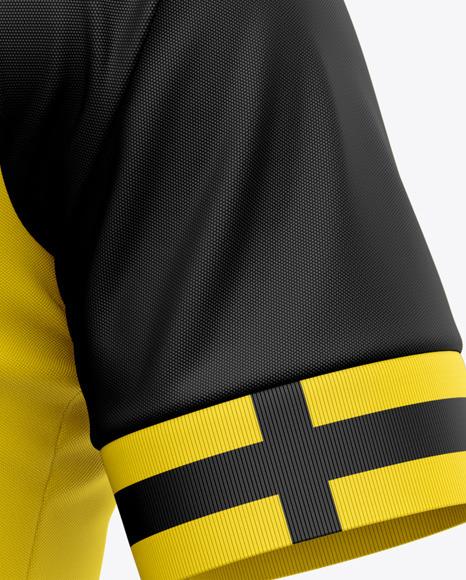 Men's Soccer Jersey T-Shirt Mockup - Front Half-Side View - Football Jersey Soccer T-shirt