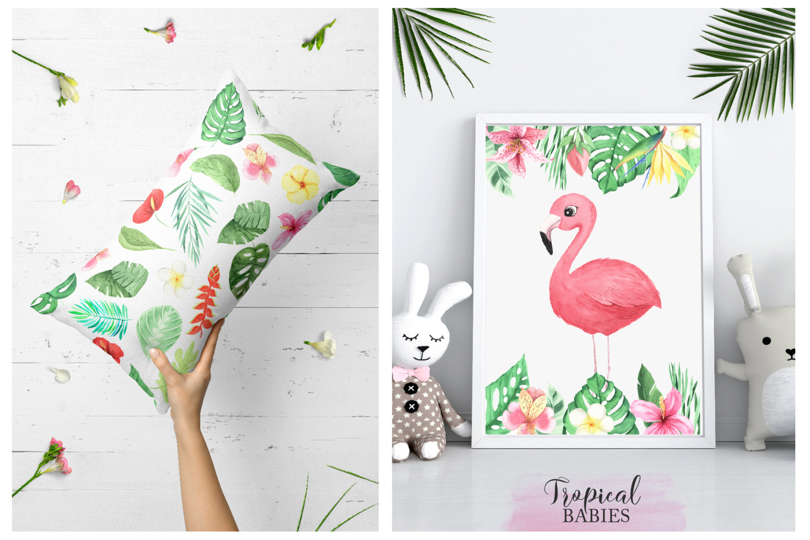Watercolor Tropical Animals Clipart