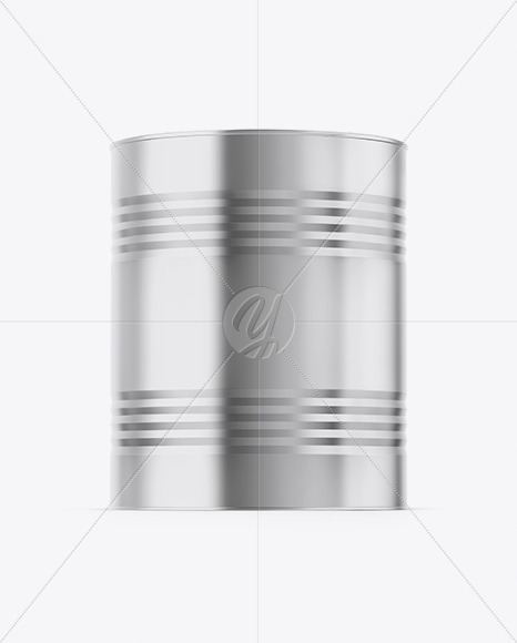 Metallic Paint Bucket Mockup - Front View