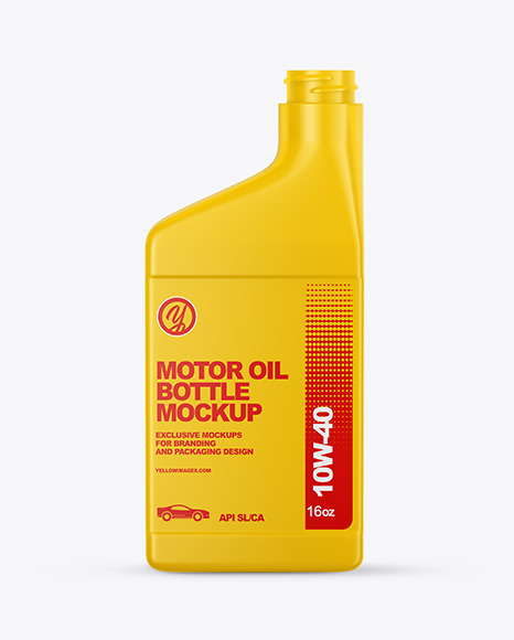 Motor Oil Bottle Mockup