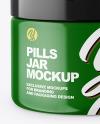 Glossy Pills Jar Mockup
