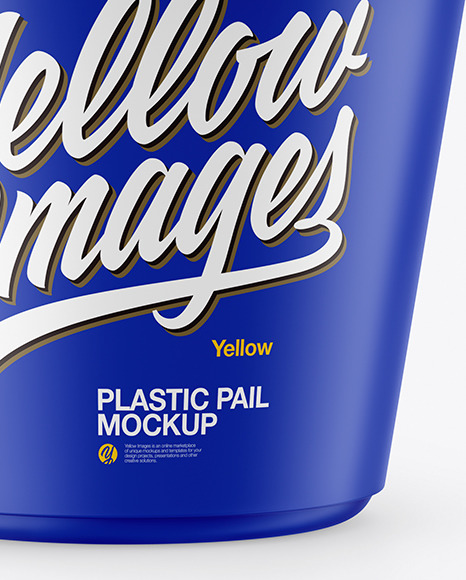 Matte Plastic Pail Mockup