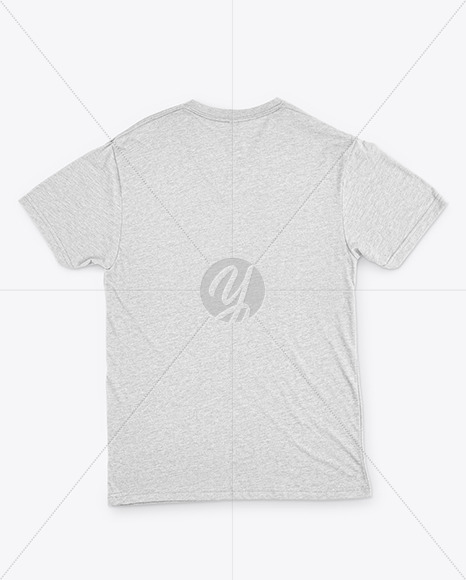 Melange T-Shirt with V-Neck Mockup