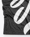 Melange T-Shirt with V-Neck Mockup