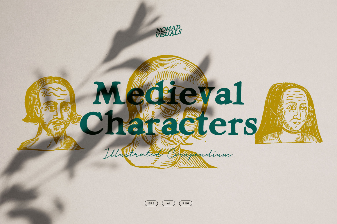 Medieval Characters Illustrations