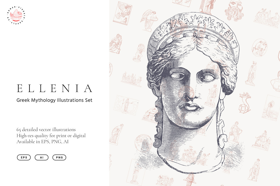 Ellenia - Greek Mythology Illustrations