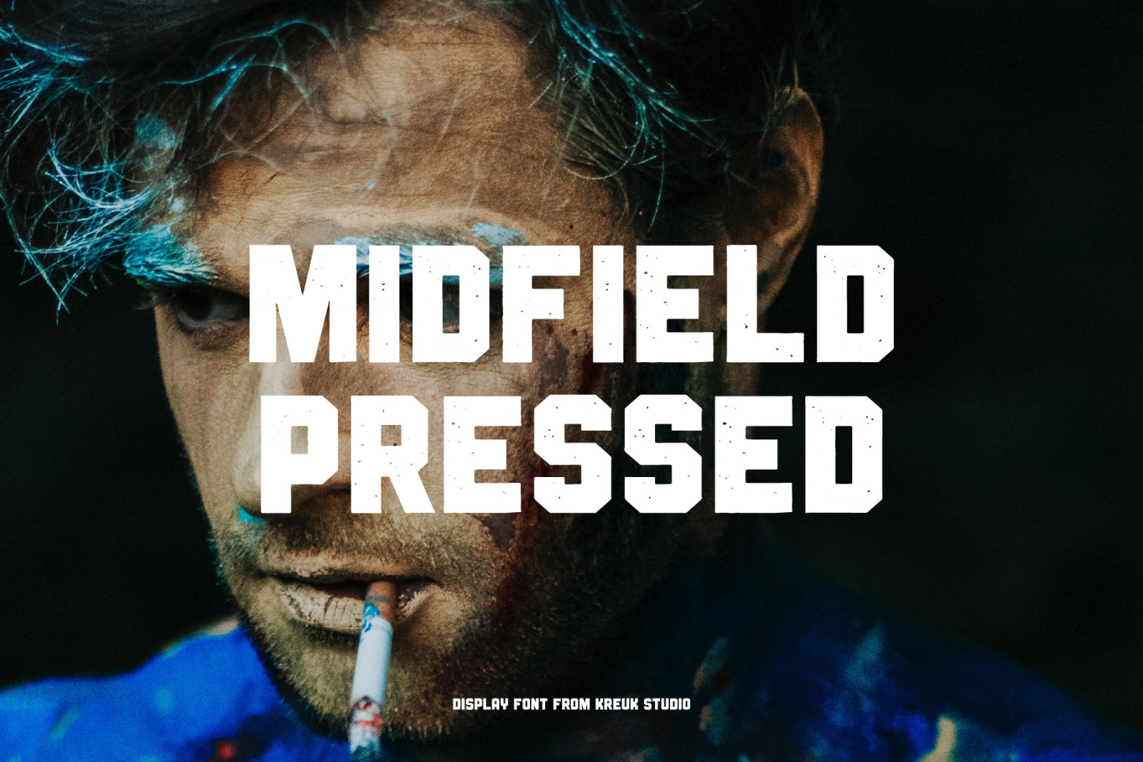 Midfield Pressed Display Font