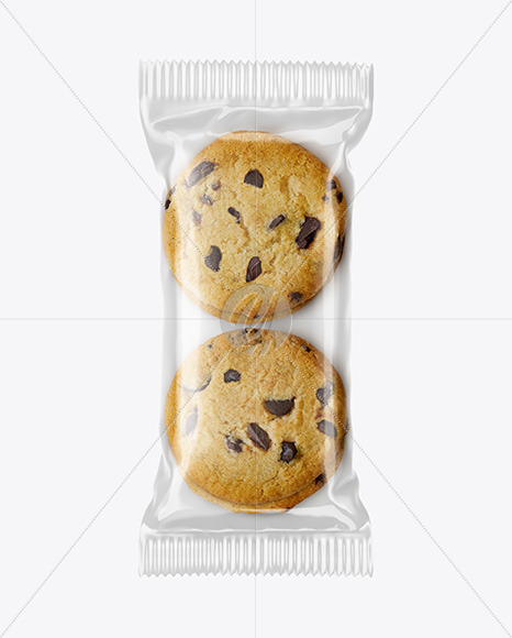 Glossy Pack with Cookies Mockup