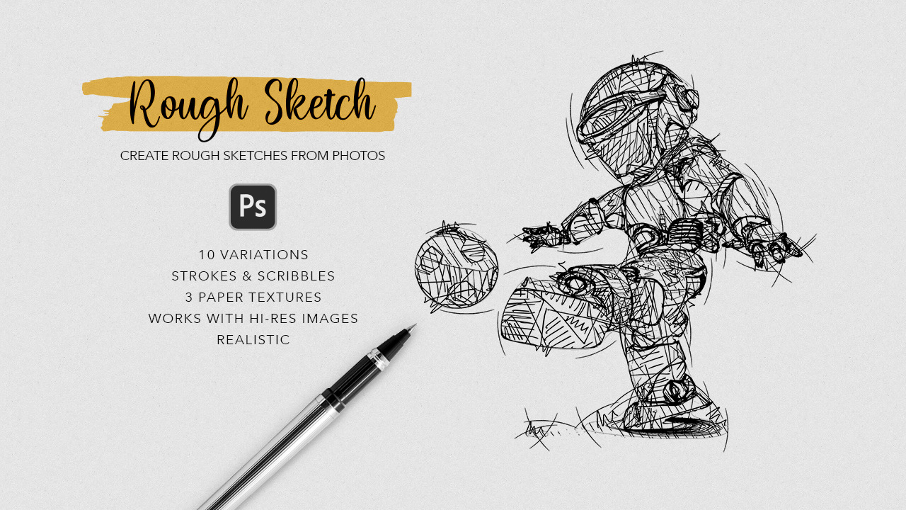 Rough Sketch Photoshop Action