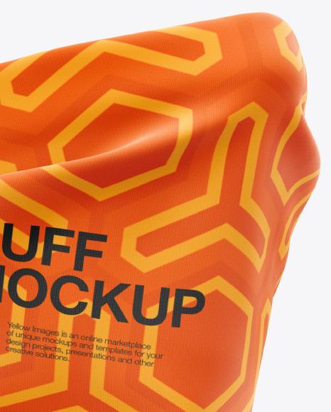 Buff Mockup - Half Side View