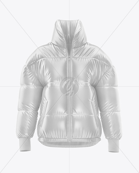 Download Matte Womens Down Jacket Whood Mockup Front View Yellowimages