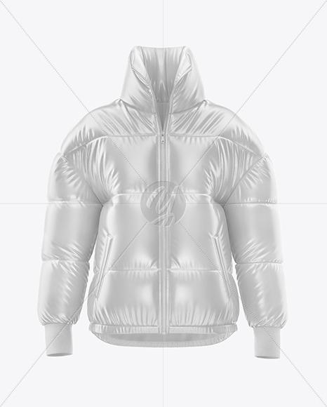 Glossy Women's Down Jacket Mockup