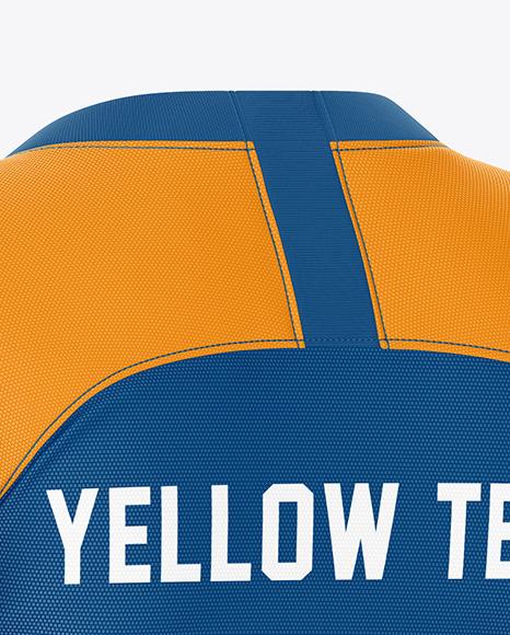 Men's Soccer Jersey Mockup – Back Half-Side View