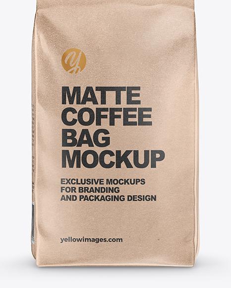 Download Kraft Coffee Bag Mockup In Bag Sack Mockups On Yellow Images Object Mockups PSD Mockup Templates
