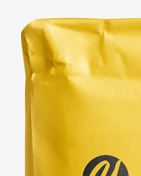 Paper Flour Bag Mockup - Front View