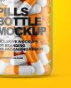 Clear Pills Bottle Mockup