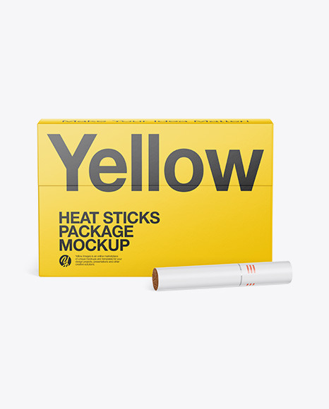 Heat Sticks Package Mockup - Front View