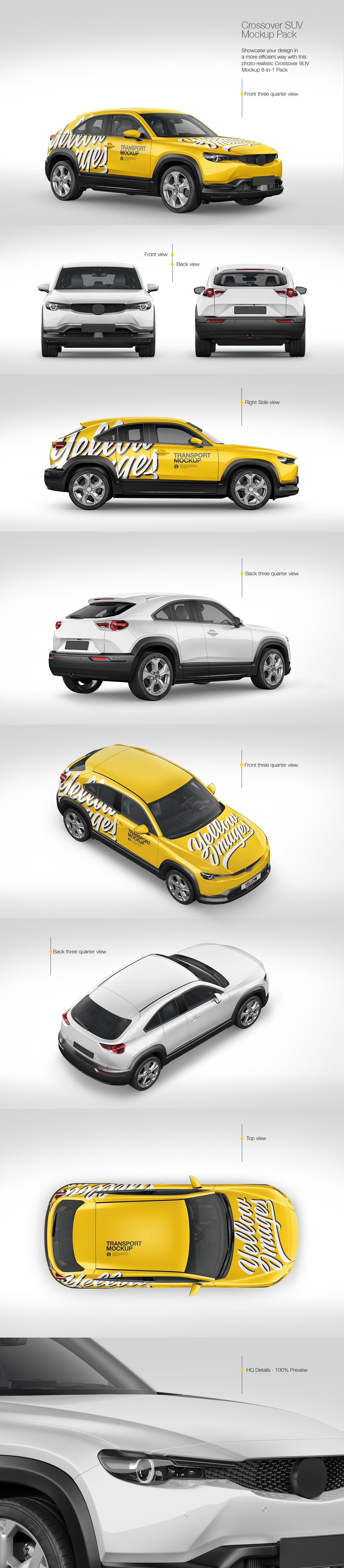Compact Crossover SUV Mockup - Pack