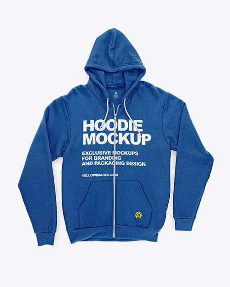 Full-Zip Hoodie Mockup