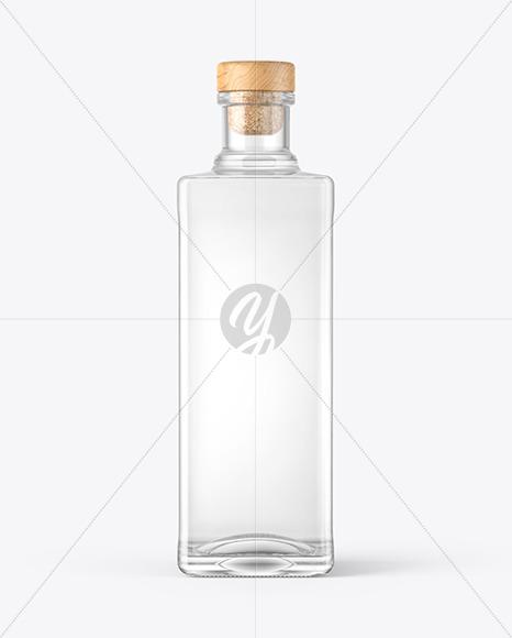 Square Vodka Bottle Mockup