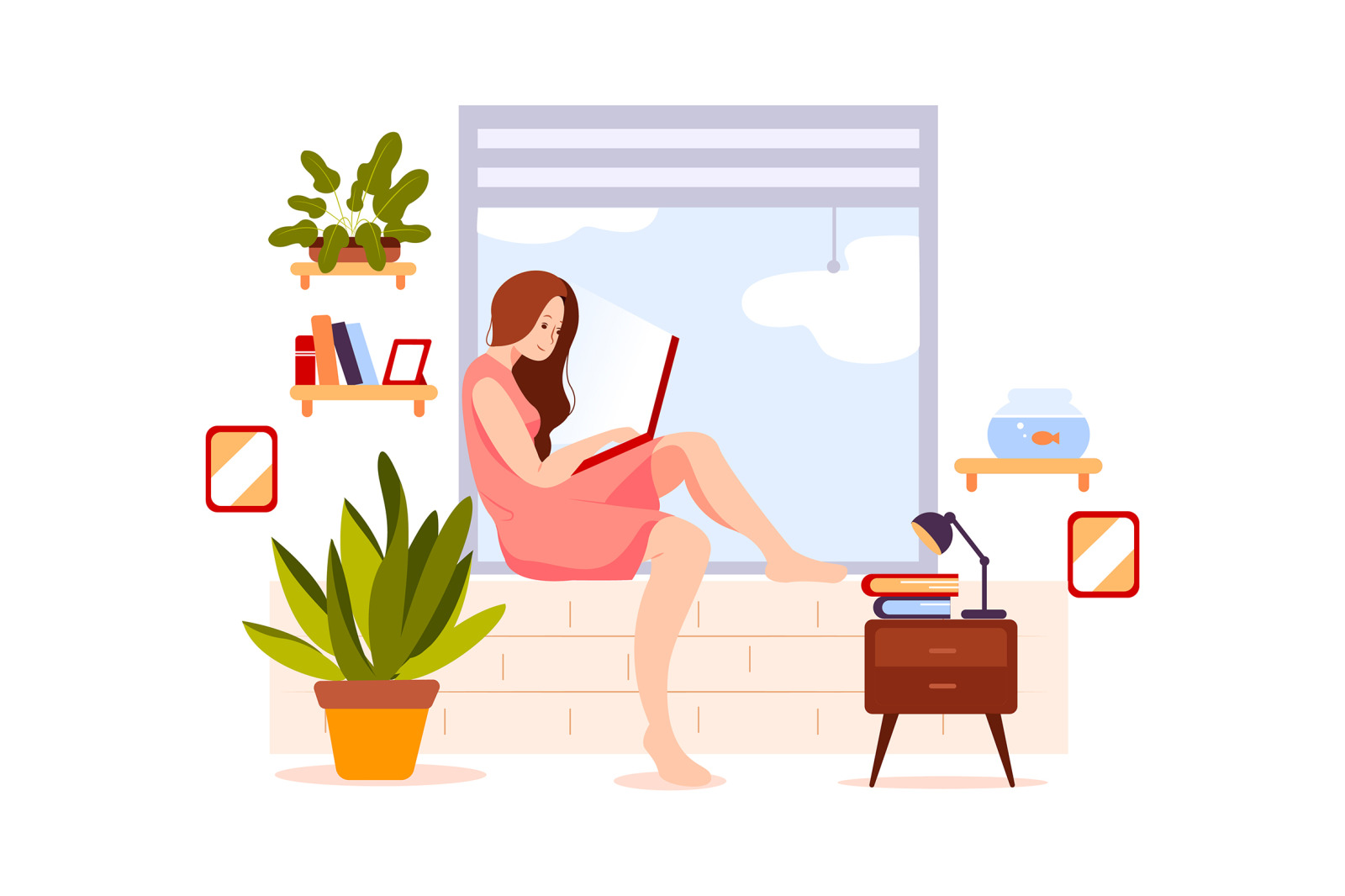 M95_Stay at Home Illustrations