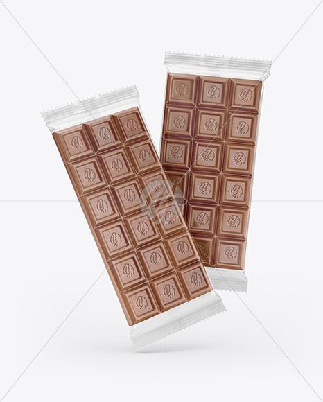 Two Chocolate Bar Mockup