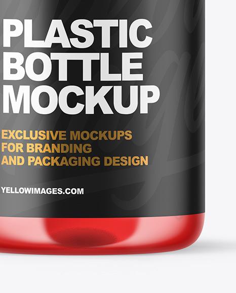 Plastic Bottle with Pump Mockup