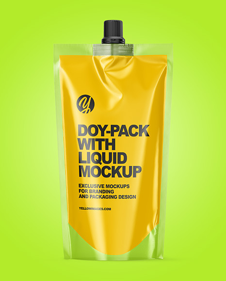 Doy-Pack with Liquid Mockup