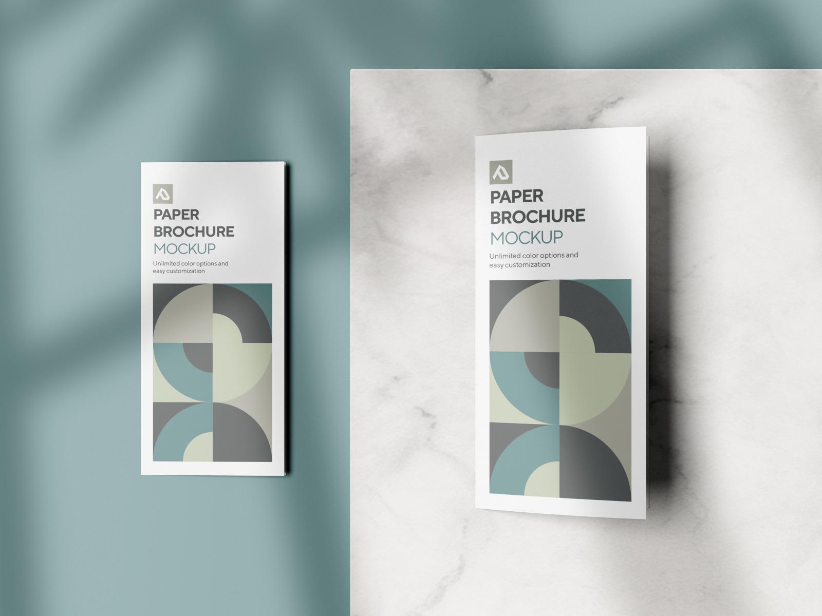 Corporate Trifold Brochure Mockup Set