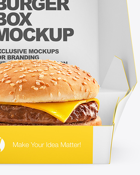 Burger In Box Mockup