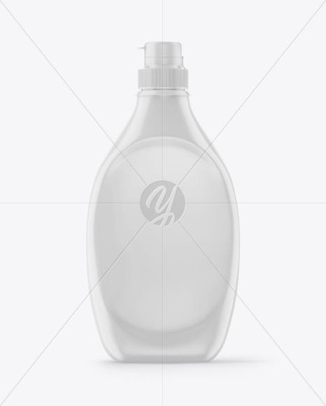 Glossy Plastic Syrup Bottle Mockup