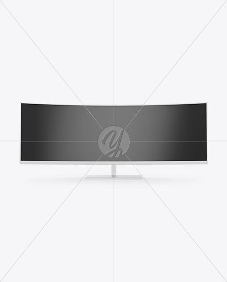 Curved Ultrawide Monitor Mockup - Front View