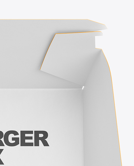 Burger In Box Mockup