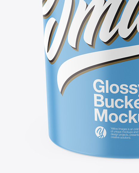 Glossy Paint Bucket Mockup