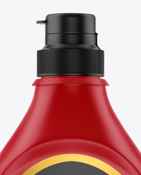 Matte Plastic Syrup Bottle Mockup