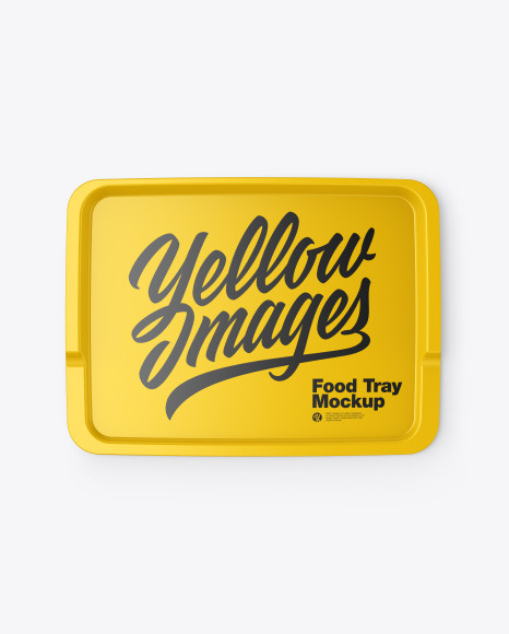 Download Glossy Food Tray Mockup In Indoor Advertising Mockups On Yellow Images Object Mockups PSD Mockup Templates