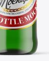 Green Glass Beer Bottle Mockup