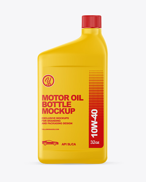 Motor Oil Bottle Mockup