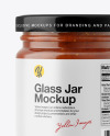 Fig Jam Glass Jar Mockup – Front View