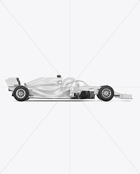 Formula-1 2020 Mockup - Side View - Yellowimages Mockups