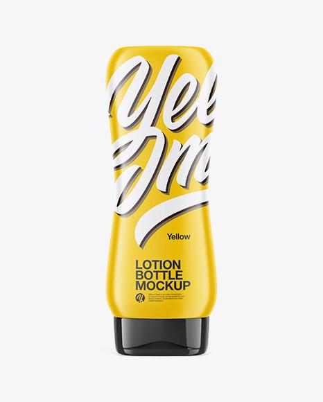 Download Lotion Bottle Mockup In Bottle Mockups On Yellow Images Object Mockups PSD Mockup Templates