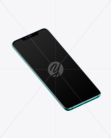 Emerald Green Huawei Mate 20 Pro Mockup