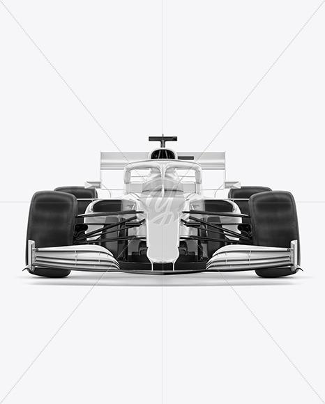 Formula-1 2020 Mockup - Front View - Yellowimages Mockups