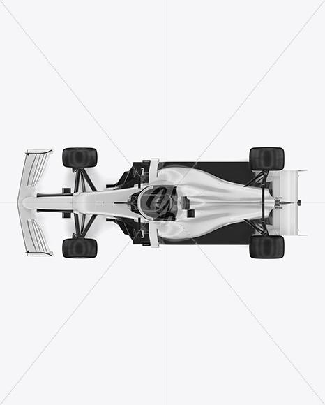 Formula-1 2020 Mockup - Top View - Yellowimages Mockups
